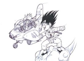 Seo jr with Goku by bloodsplach