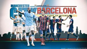 Man City Barcelona By Namo,7 by 445578gfx