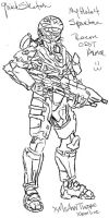 :Quick Sketch: my Spartan 4 by MsAnnThrope