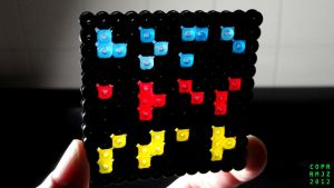 Perler Backlight Experiment by NeuronPlectrum