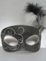 Black and silver masquerade mask by maskedzone