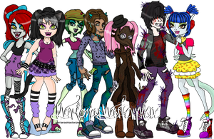 My Monster High OC's by MarianasMasterpiece