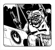 Star Wars - Ewok X-Wing Pilot by SteamPoweredMikeJ