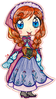 Chibi Princess Anna by sekaiichihappy