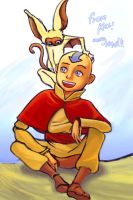 CHOC art - Aang by JH-Kael