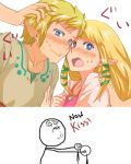 Zelda and Link NOW KISS by angel-oni13