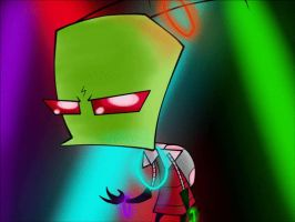 Zim and G.I.R. Disco Pogo GIF And CONTEST by InvaderZiE