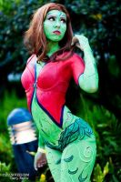 Poison Ivy Body Paint by michishigemasumi