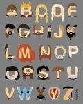 Game of Thrones Alphabet by mbaboon