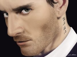 Michael Fassbender by InkTheory-Design