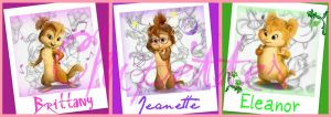 Chipettes Collage by Azn-Chipmunk