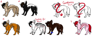 Adoptables set 3 by HungryRainbowEater