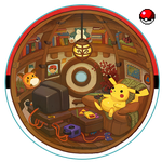 Cozy Pokeball Interior by Nerd-Scribbles