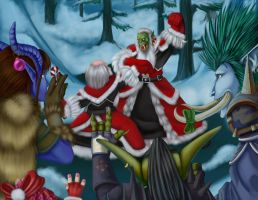 Greatfather Winter Duke Out by Zaebrael