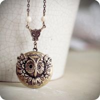 Antique Owl locket vol.2 by BeautySpotCrafts