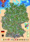 Illustrated map of Germany by MIKHAYLOV