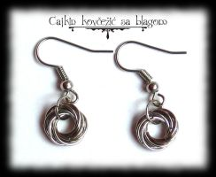 Moebius ball earrings by Cayca
