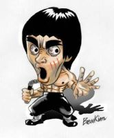 Bruce Lee by bombzonekim