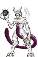 Mewtwo by MonsterKingOfKarmen