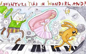 Adventure Time in Wonderland by lady-leliel