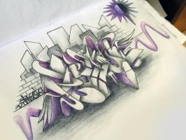 Peaceful Graffiti Sketch by SmecKiN