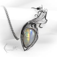 AXYGNISS - silver and moonstone. by LUNARIEEN