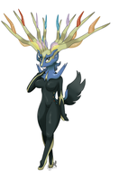 no. 716 Xerneas by pitch-black-crow