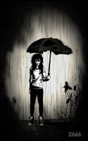 Leaky umbrella   (Jeff the killer) by Zlata666