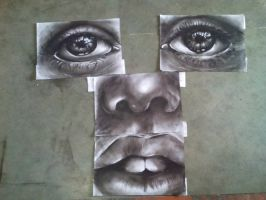 largest charcoal poptrait (WIP) by abdul22nasir