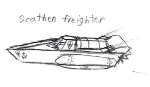 NoR: Scathen Freighter by IrateResearchers