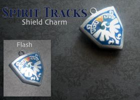 Spirit Tracks Shield Charm by GandaKris