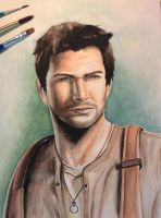 Nathan Drake - Uncharted by LadyKazegami