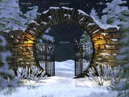 Winter Gate by Trisste-stocks