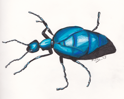 Beetle in Blue by AluminumSunset