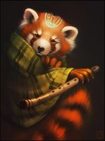 Red panda by GaudiBuendia