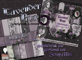 Lavender Rose Digital Scrapbook Kit by DitzBitz