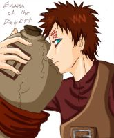 Sabaku no Gaara-colored by Tobiassilverstreak