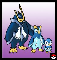 Piplup Family by ZappaZee
