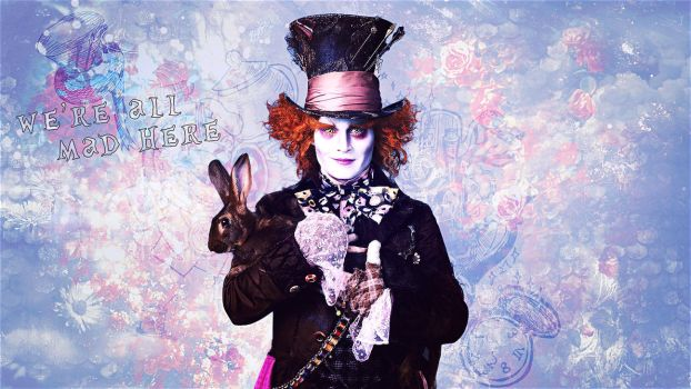 we're all mad here by Super-Fan-Wallpapers