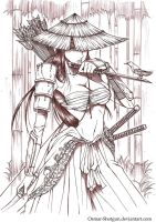Samurai Girl by Osmar-Shotgun