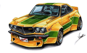 Mazda RX3 Banana Racer by vsdesign69