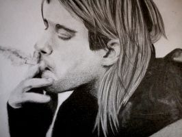 Kurt Cobain by SweetRedArt