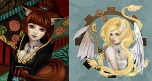 Emina and Belphe by Miss-Etoile