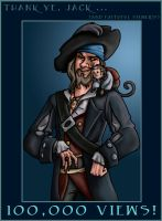 Barbossa: 100,000 THANKS by Crispy-Gypsy