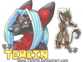 Bust and Chibi Badge by Temrin