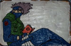 Kakashi Sensei Cake by pirateking42