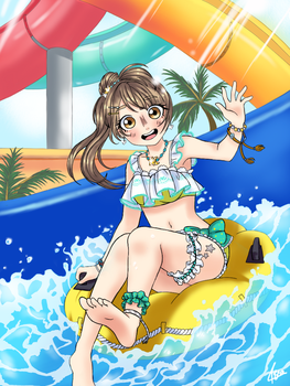 Pool time with Kotori! by Bea2028