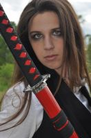 Dark School Girl with Katana III by kndrwllmsn