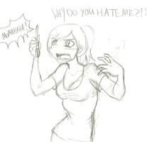 Pencil Hate by LollyxBeans