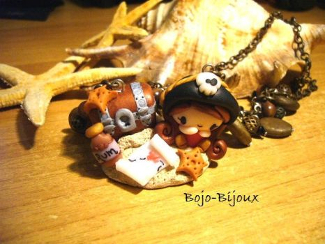 Necklace 'Pirate and Tresaure' by Bojo-Bijoux